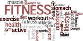 "Word cloud ""Fitness"" — Stock Vector"
