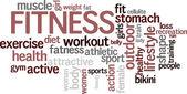 "Word cloud ""Fitness"" — Stock Vector"