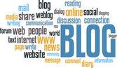 BLOG wordcloud — Stock Vector