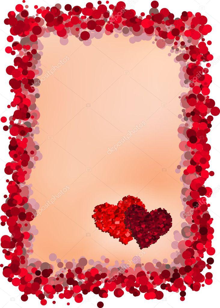 Valentine's Day greeting card - Stock Illustration