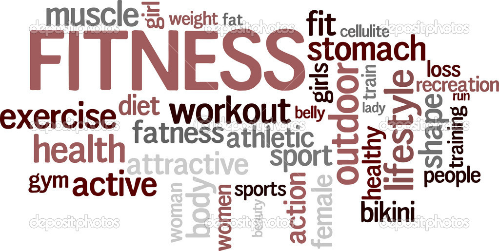 Fitness word cloud background. See more in my portfolio. — Stock Vector #4867355
