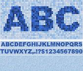 Mosaic Font. — Stock Vector