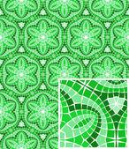 Ornamentos del mosaico inconsútil vector — Vector de stock