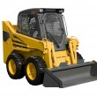 New yellow minitractor - 图库照片