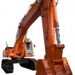 New orange excavator — Stock Photo