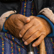 Hands of old poor woman — Photo