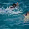 Pair snorkeling in red sea — Foto Stock #5021021