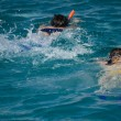 Pair snorkeling in red sea — Stockfoto #5021021