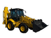 New yellow tractor — Stock Photo