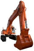 New orange excavator — Stock Photo