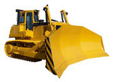 New yellow bulldozer — Stock Photo