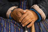 Hands of old poor woman — Stock Photo