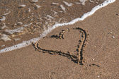 Heart on the sand — Stock Photo
