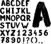 Grunge hand-written typeset — Stock Vector