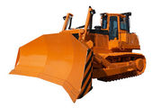 New orange bulldozer — Stock Photo