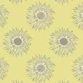 Sunflowers. Seamless pattern — Stock Vector