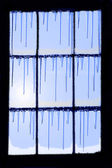 Frozen glass window — Stockfoto