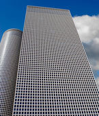 Skyscraper blue — Stock Photo