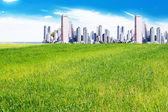 City on the plains — Stock Photo