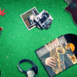 Music on the grass — Stock Photo