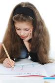 Girl draws — Foto Stock