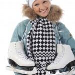 Girl with skates — Stock Photo #5370238