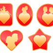 Royalty-Free Stock Vector Image: Set of badges on love.