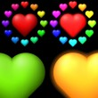 Royalty-Free Stock Vectorielle: Set of coloured hearts.