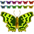 Stock Vector: Collection of colorful butterflies.