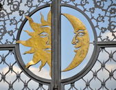 Stylized Images of the moon and the sun — Stock Photo