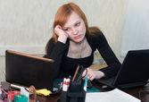 Unmotivated Businesswoman — Stock Photo
