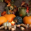 Still life harvest  decoration for Thanksgiving - Stock Photo