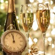 Champagne glasses ready to bring in the New Year — Stok fotoğraf #4175474