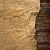 Closeup of wrinkled parchment paper — Stock Photo