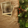 Parchment paper with Christmas background — Stock Photo