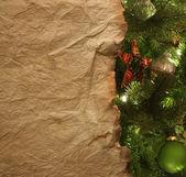 Carta pergamena con sfondo di Natale — Foto Stock