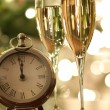 Countdown to celebrations with champagne — Stock Photo #4438962