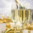 Stock Photo: Champagne celebration for new year