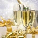 szampan uroczystości na nowy rok — Zdjęcie stockowe