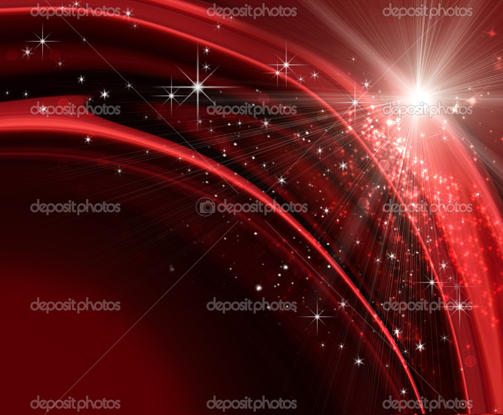 Festive holiday background with sparkles and stars — Stock Photo #4438952