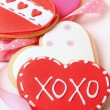 Heart-shape cookies for Valentine's Day - Stock Photo