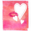 Pink abstract watercolor background - Stok fotoğraf