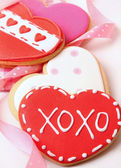 Heart-shape cookies for Valentine's Day — Foto de Stock