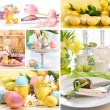 Collage of colorful easter images - Stock Photo