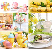 Collage of colorful easter images — Stockfoto