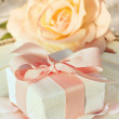 Thank you gift at wedding reception — Stock Photo #5345597