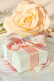 Thank you gift at wedding reception — Fotografia Stock