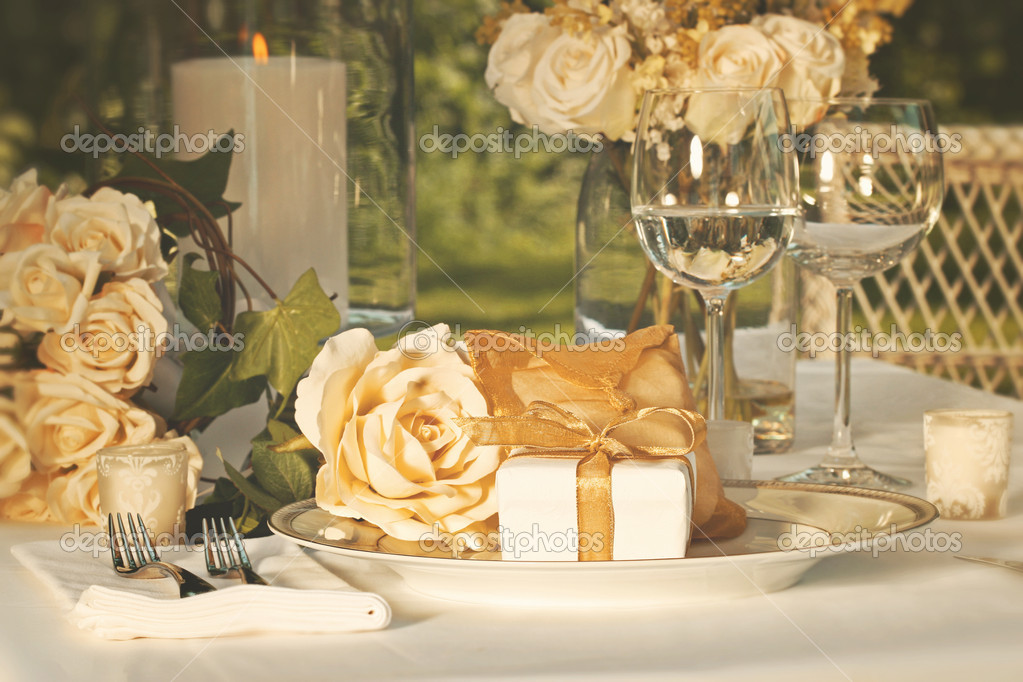 Wedding Party Favors On Plate At Reception Stock Photo C Sandralise 5345605