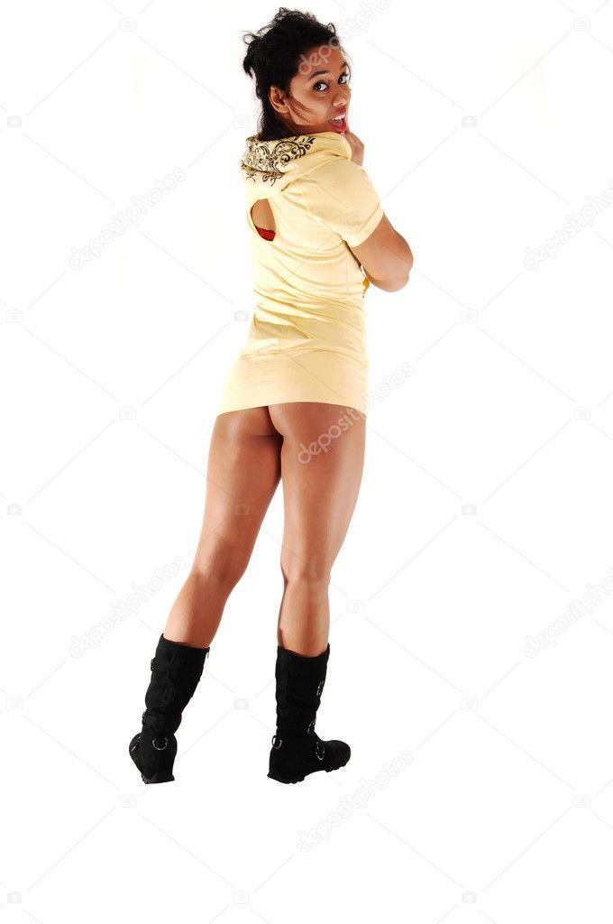 Pretty Hispanic girl standing. — Stock Photo © sucher #4585212