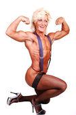 Bodybuilding woman. — Stock Photo